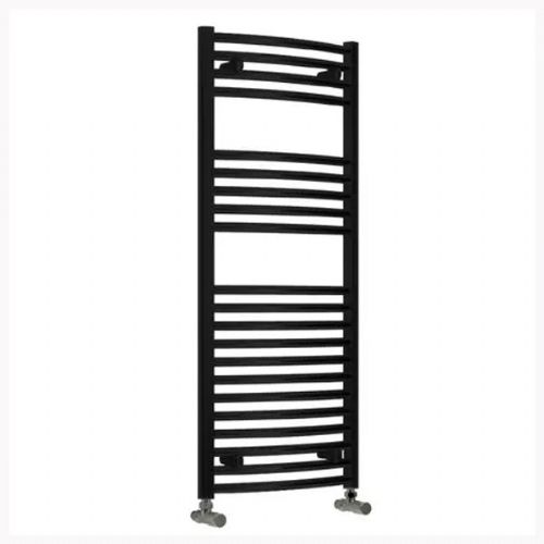 Reina Diva Curved Thermostatic Electric Towel Rail - 1200mm x 500mm - Black